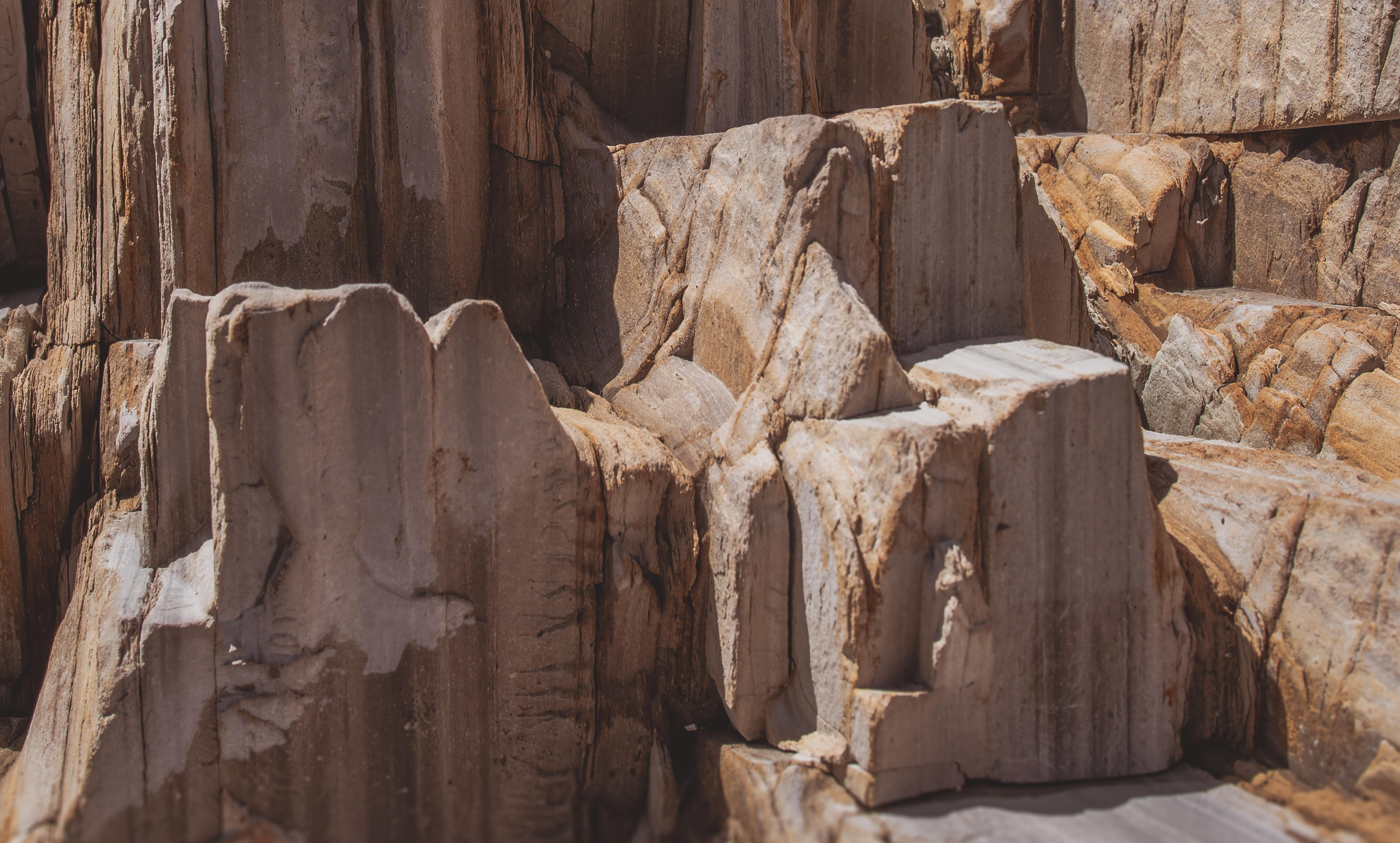 A brown rock formation